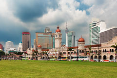 Merdeka Square and Skyline of Kuala Lumpur Stock Photo
