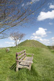 Mere Castle hill from Long Hill. The site of Mere Castle from Long Hill, Mere,Wiltshire Stock Image