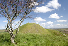Mere Castle hill from Long Hill. The site of Mere Castle from Long Hill, Mere,Wiltshire Royalty Free Stock Images