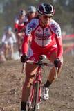 Meredith Miller - pro coureur de Cyclocross de femme Photographie stock libre de droits