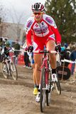 Meredith Miller - Pro Woman Cyclocross Racer Royalty Free Stock Image
