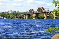 Merefo-Khersonbrücke in Dnipropetrovsk ukraine Lizenzfreies Stockbild