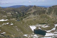 Meren in de bergen Stock Afbeelding