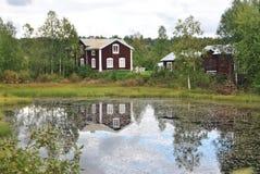 Meren en rivieren van Scandinavië stock afbeeldingen