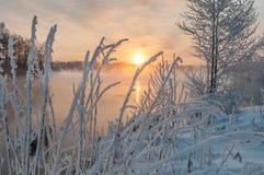 Meren, water, rivieren, vorst, sneeuw, ijs, de winter stock foto's