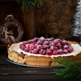 Merengue do arando com queijo creme para a tabela de ano novo fotos de stock royalty free
