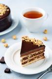 Merengue hazelnut chocolate cake Royalty Free Stock Photos