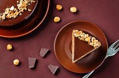 Merengue hazelnut chocolate cake Royalty Free Stock Photography