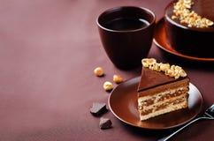 Merengue hazelnut chocolate cake Stock Image