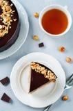 Merengue hazelnut chocolate cake Stock Photography
