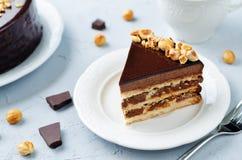 Merengue hazelnut chocolate cake Royalty Free Stock Image