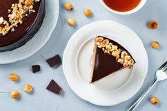Merengue hazelnut chocolate cake Stock Images