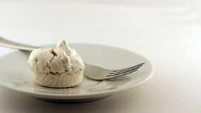 Merengue on a plate Stock Photos