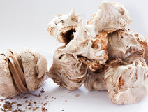 Merengues do redemoinho do chocolate Imagem de Stock