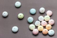 Merengues nas cores pastel Imagem de Stock