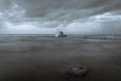 Merewether - cabina delle pompe dei bagni dell'oceano Fotografie Stock Libere da Diritti