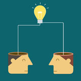 Merge ideas to success. Vector illustration Royalty Free Stock Image