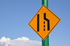 Merge right traffic sign Royalty Free Stock Image