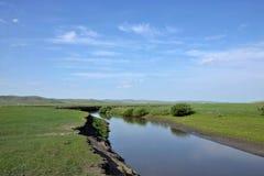 Mergel Riverside Golden Horde Khan Mongolian steppe tribes Stock Image
