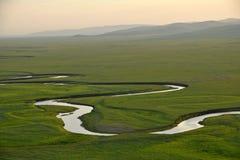 Mergel Riverside Golden Horde Khan Mongolian steppe tribes Stock Photos