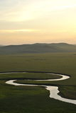 Mergel Riverside Golden Horde Khan Mongolian steppe tribes. Inner Mongolia Hulunbeier China's first Qushui in mergel Golden Horde Khan Mongolian tribes riverside Stock Images