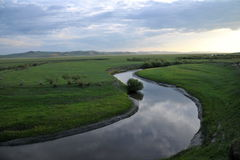 Mergel Riverside Golden Horde Khan Mongolian steppe tribes Royalty Free Stock Photography