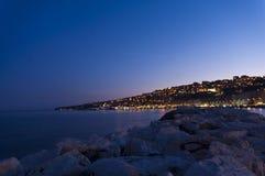 Mergellina di notte Arkivfoto