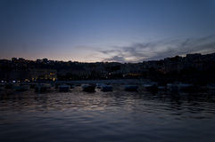Mergellina di notte Royalty Free Stock Images