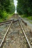 Mergen der Bahnstrecken Lizenzfreies Stockbild
