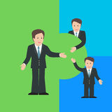 Merger and Acquisition design concept with business characters. Stock Photo