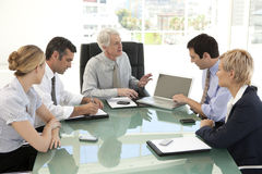 Merger and acquisition. Management team. Managers of a business company at a meeting with ceo Stock Images