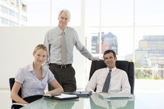 Merger and acquisition. Management team Stock Image