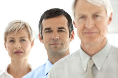 Merger and acquisition. Management team. Portrait of three managers of a business company Stock Images