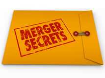 Merger Secrets Yellow Classified Envelope Information Stock Image