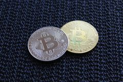Merger and unity. Virtual currency of different advantages Stock Photo