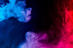 Merging of colorful smoke royalty free stock photography