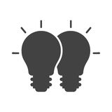 Merging Ideas. Merging, cooperation, ideas icon vector image. Can also be used for software development. Suitable for use on web apps, mobile apps and print Royalty Free Stock Photos