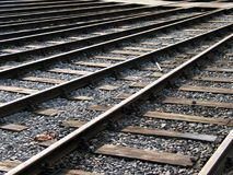 Merging tracks Stock Photo