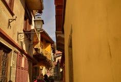 Mergozzo, Piedmont, Italy. March 2019, old town stock photos