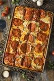 Merguez casalinghe Pan Pizza siciliano Immagini Stock