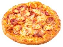 Merguez e pizza di formaggio II Fotografia Stock