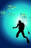 Mergulhador Ilustração do Vetor