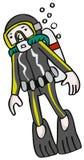 Mergulhador ilustração royalty free