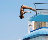 Mergulhador chinês da plataforma de Yudan HU imagem de stock royalty free