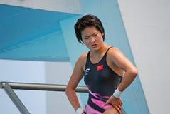 Mergulhador da plataforma de Roulin Chen fotografia de stock royalty free