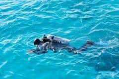 Mergulhador de mergulhador fotografia de stock