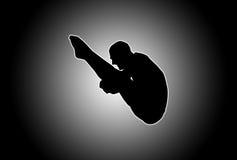 Mergulhador de incandescência Fotos de Stock Royalty Free