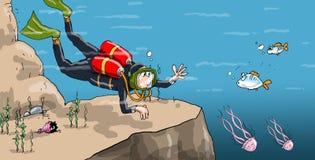 Mergulhador de mergulhador Foto de Stock Royalty Free