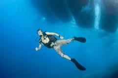 Mergulhador de mergulhador novo Fotografia de Stock Royalty Free