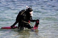 Mergulhador do mergulhador foto de stock